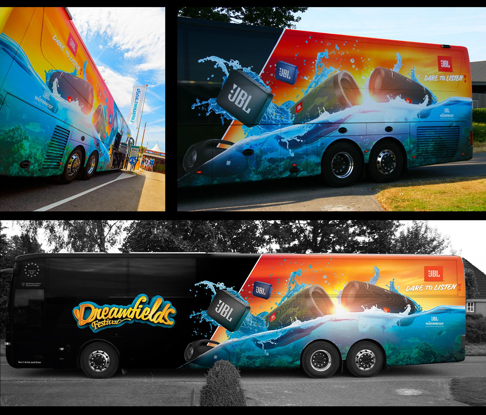 ROSH Studios JBL Bus wrap